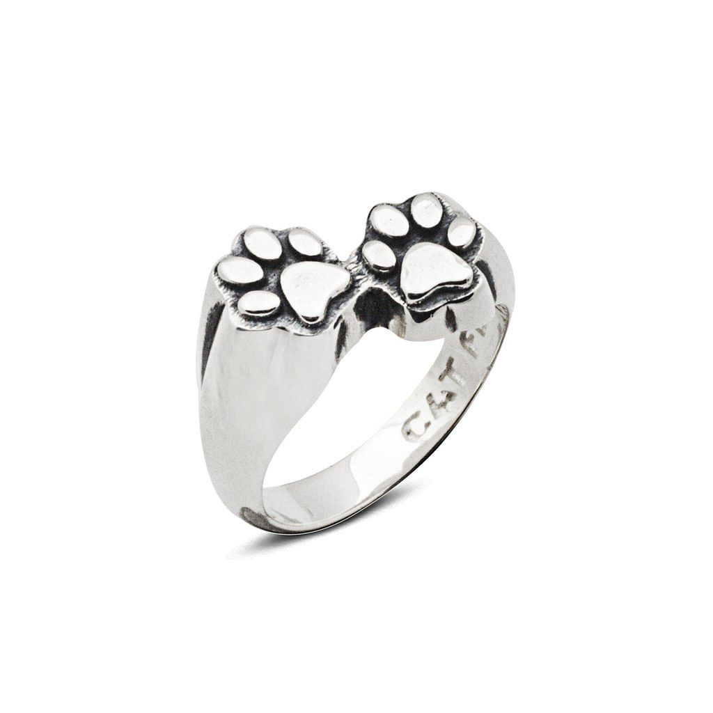 Cat Fever Paw Print Signet Ring - L - Product number 2373467