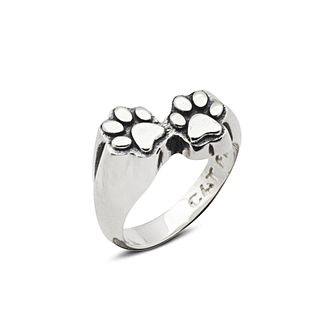 Cat Fever Paw Print Signet Ring - M - Product number 2373475
