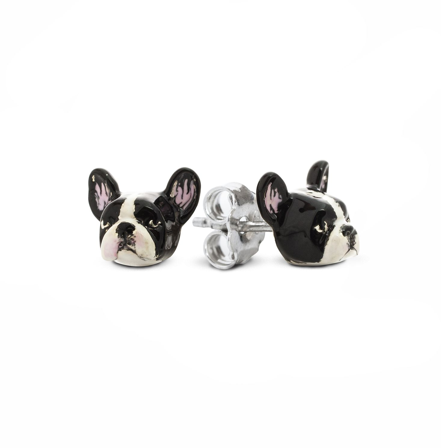 Dog Fever French Bulldog Muzzle Stud Earrings - Product number 2373718