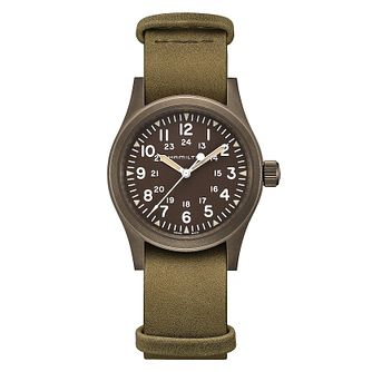 Hamilton Khaki Field Men's Green Strap Watch - Product number 2374331
