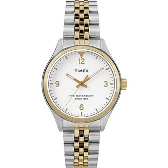 Timex Waterbury Traditional Ladies' Two Tone Bracelet Watch - Product number 2374765