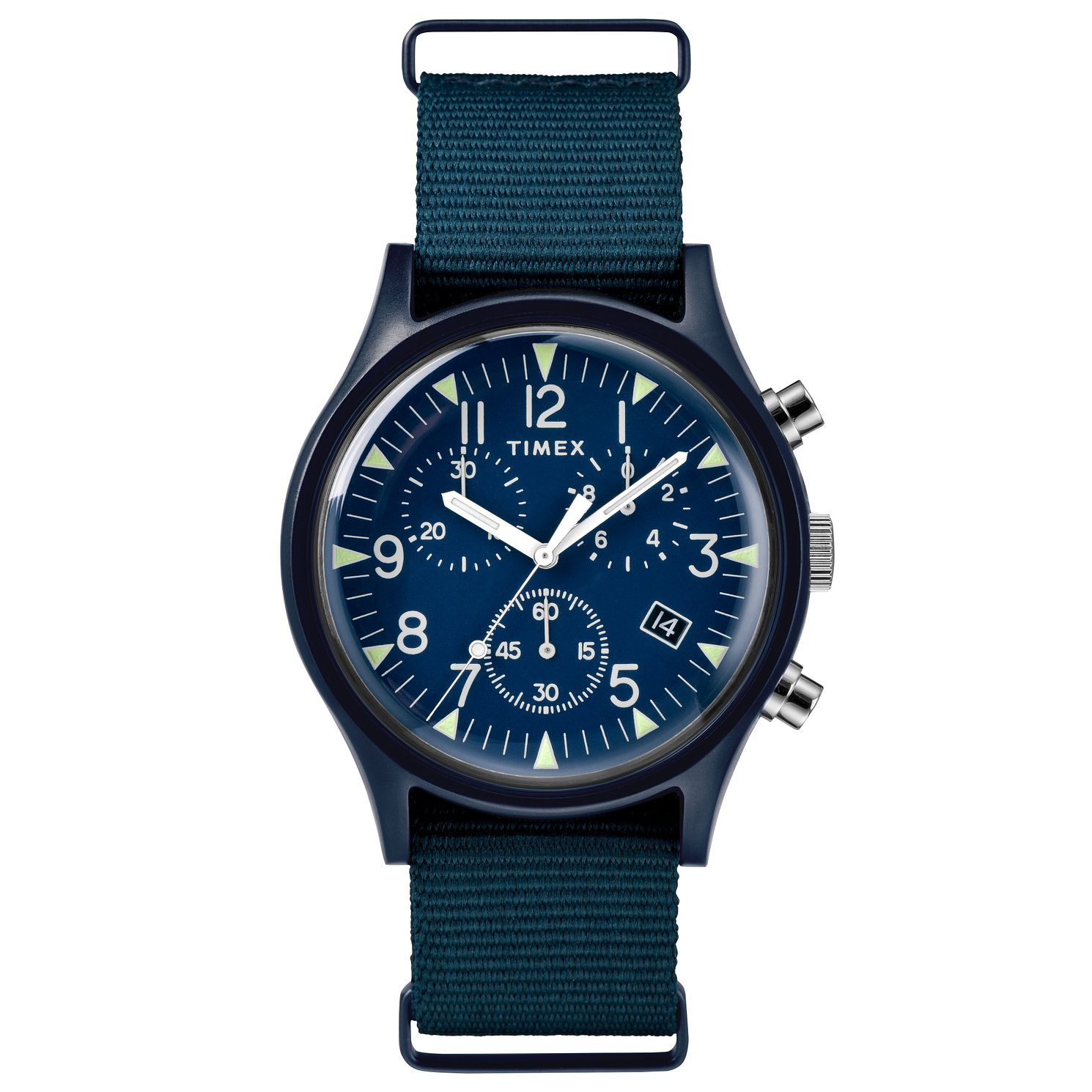 Timex MK1 Chronograph Men's Blue Fabric Watch - Product number 2374838