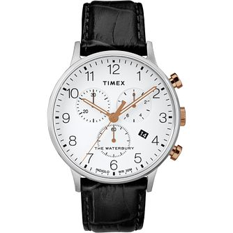 Timex Waterbury Classic Men's Black Leather Strap Watch - Product number 2374846