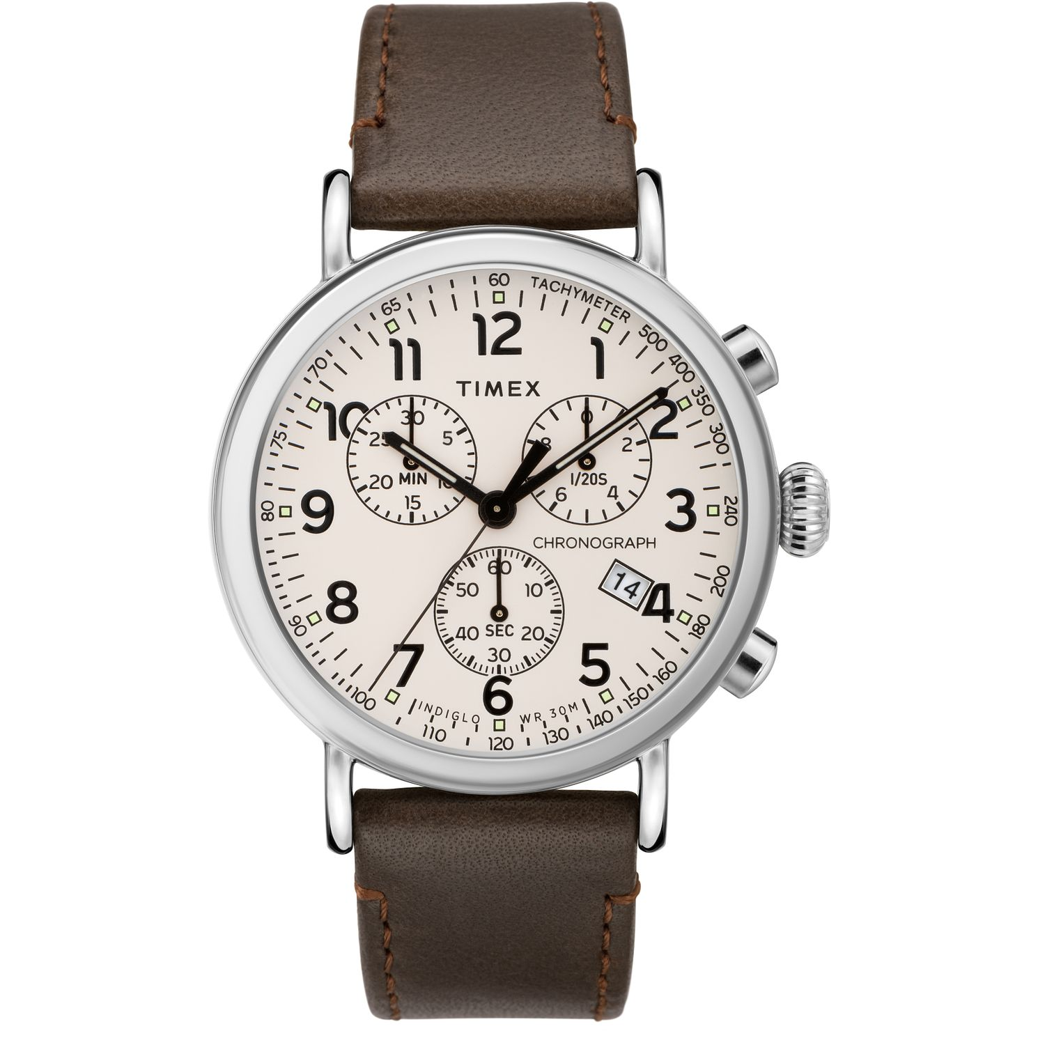 Timex Standard Chronograph Men's Brown Leather Strap Watch - Product number 2374870