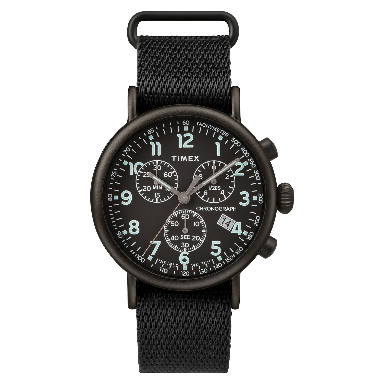 Timex Standard Chronograph Men's Black Fabric Strap Watch - Product number 2374889