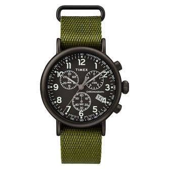 Timex Standard Chronograph Men's Green Fabric Strap Watch - Product number 2374897
