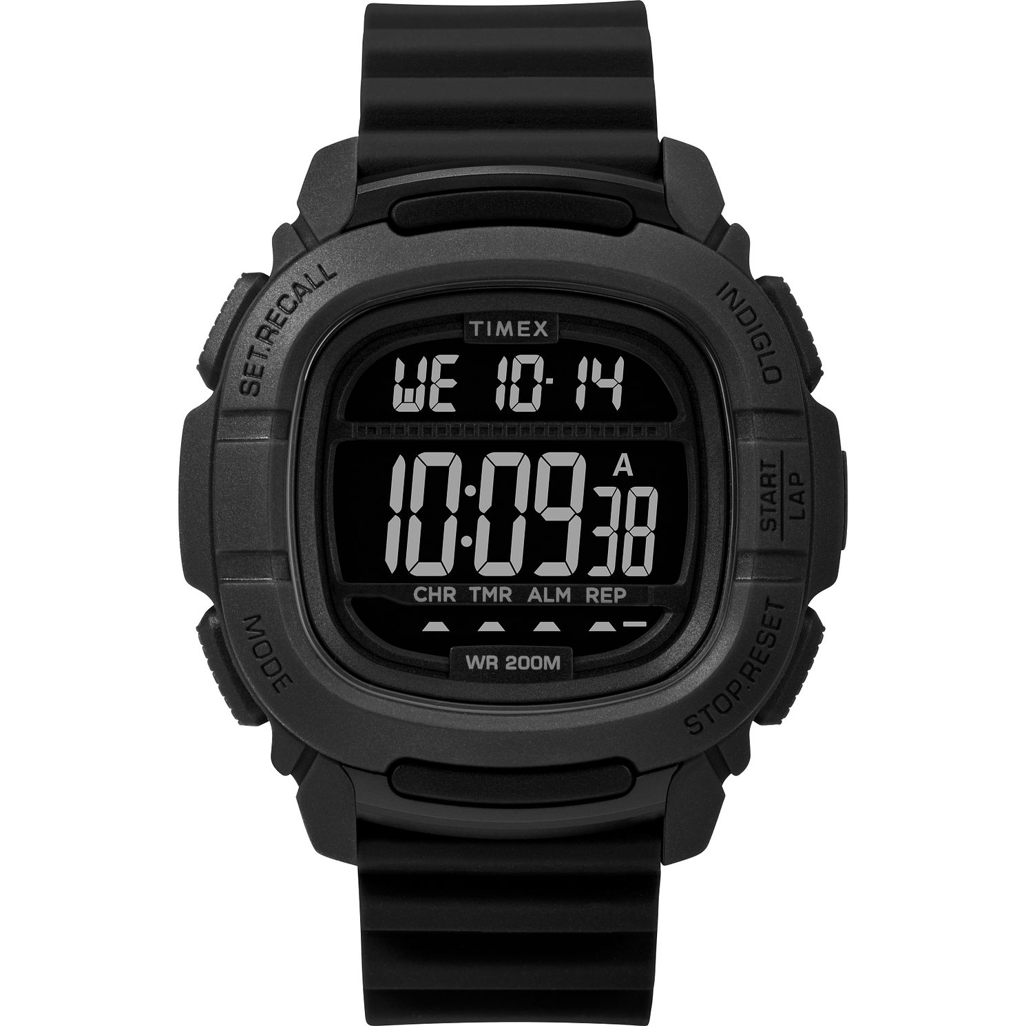 Timex BST.47 Men's Black Silicone Strap Watch - Product number 2374927