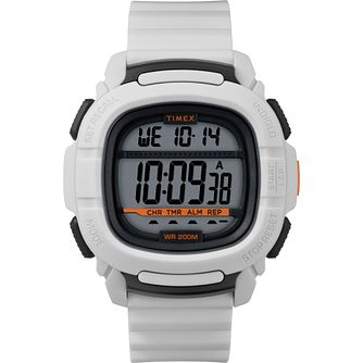Timex BST.47 Men's White Silicone Strap Watch - Product number 2374935