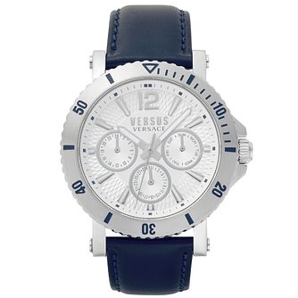 Versus Versace Steenberg Blue Leather Strap Watch - Product number 2375052