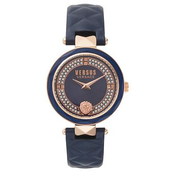 Versus Versace Covent Garden Blue Leather Strap Watch - Product number 2375109