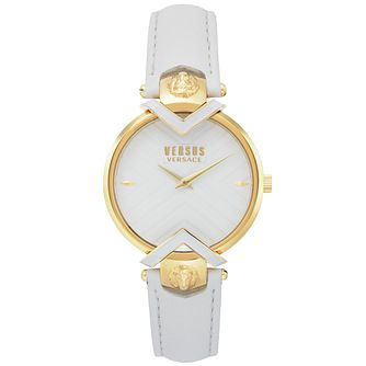 Versus Versace Mabillon White Leather Strap Watch - Product number 2375117