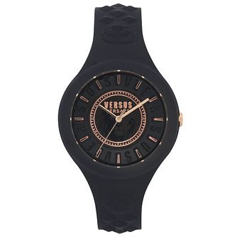 Versus Versace Fire Island Black Silicone Strap Watch - Product number 2375192