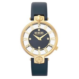 Versus Versace Kirstenhof Blue Leather Strap Watch - Product number 2375222