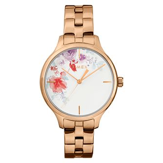 Timex Crystal Bloom Ladies' Rose Gold Tone Bracelet Watch - Product number 2375257