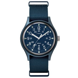 Timex MK1 Men's Blue Fabric Watch - Product number 2375281
