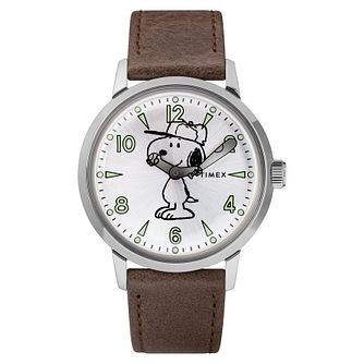 Timex x Peanuts SnoopyBrown Leather Strap Watch - Product number 2375303