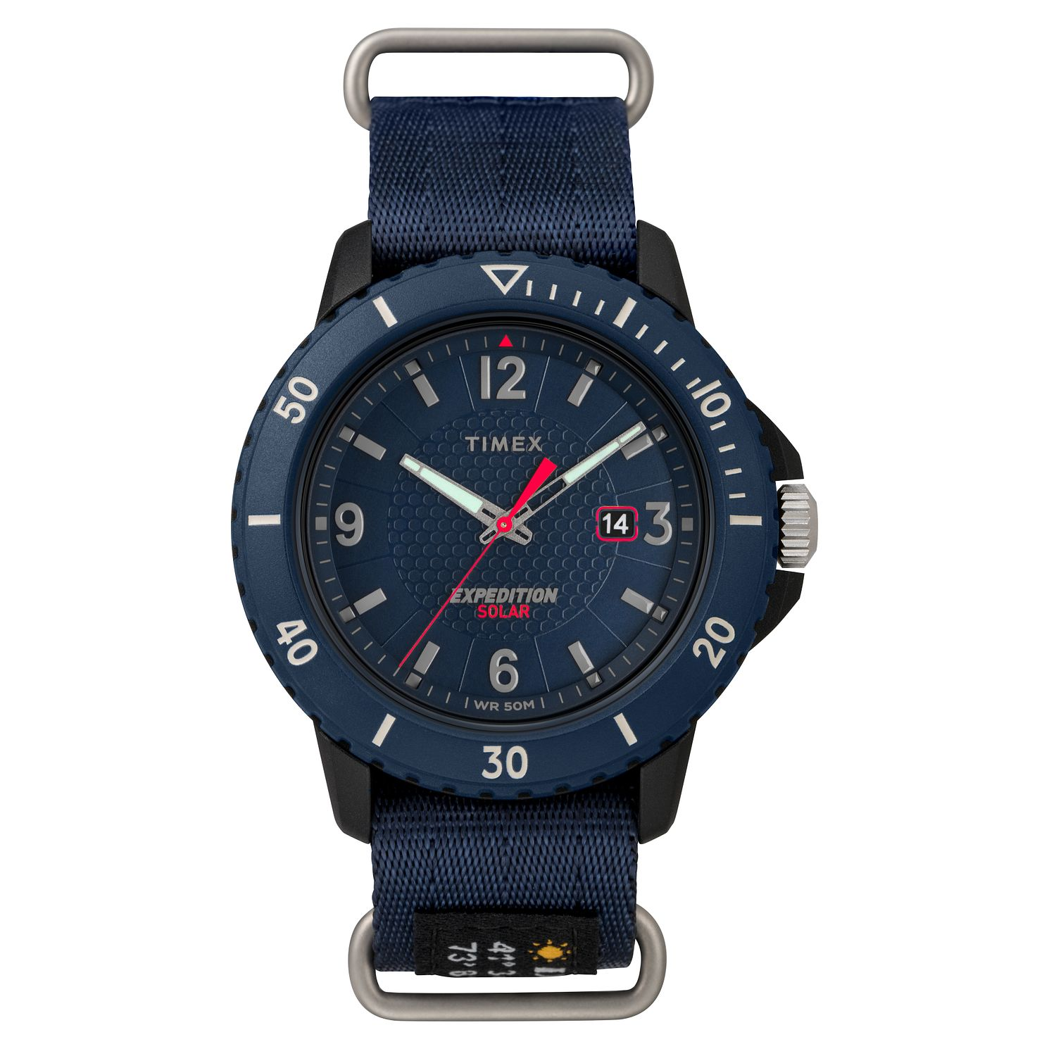 Timex Expedition Gallatin Solar Men's Blue Strap Watch - Product number 2375338