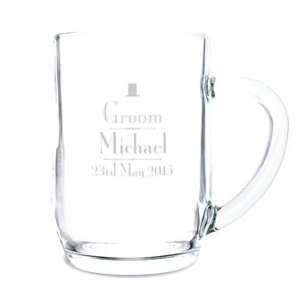 Personalised Decorative Wedding Groom Tankard - Product number 2391961