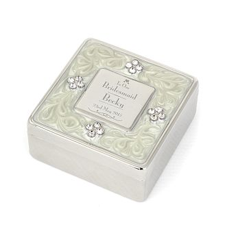Decorative Wedding Bridesmaid Square Diamante Trinket Box - Product number 2392267