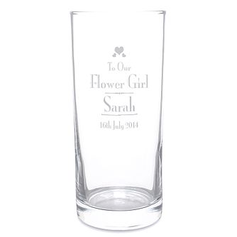 Personalised Decorative Wedding Flower Girl Hi Ball Glass - Product number 2393433
