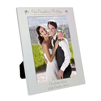 Silver 5x7 Decorative Our Daughter's Wedding Frame - Product number 2393549