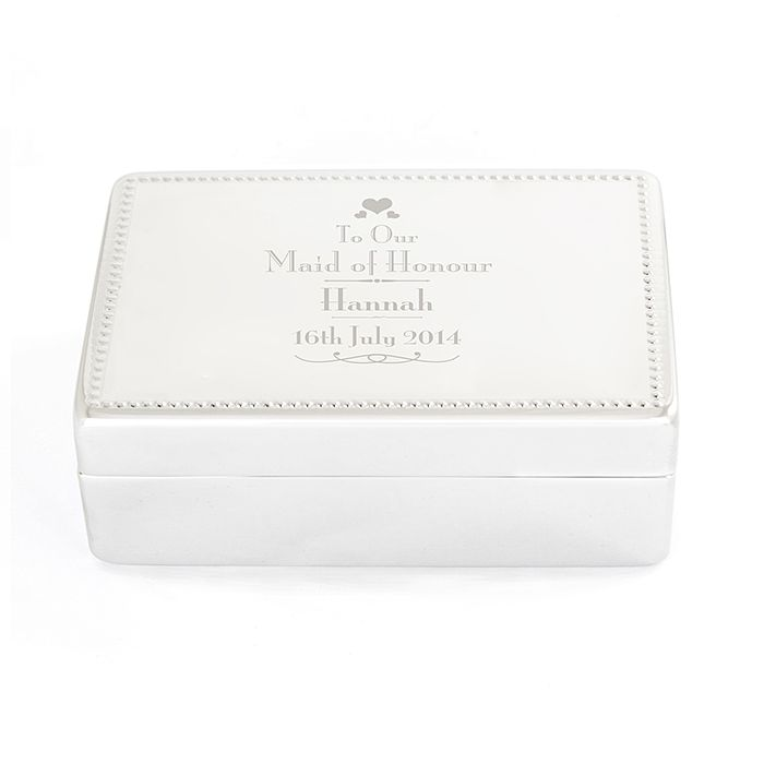 Personalised Decorative Wedding Maid of Honour Jewellery Box - Product number 2393840