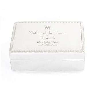 Personalised Decorative Wedding Groom's Mother Jewellery Box - Product number 2393875