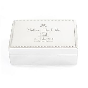 Personalised Decorative Wedding Bride's Mother Jewellery Box - Product number 2393883