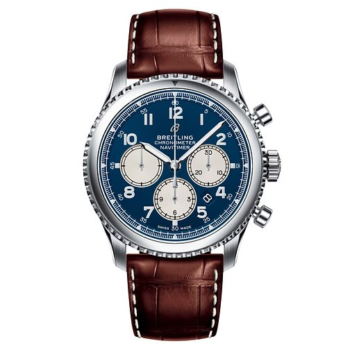 Breitling Navitimer 8 B01 Men's Brown Leather Strap Watch - Product number 2394111