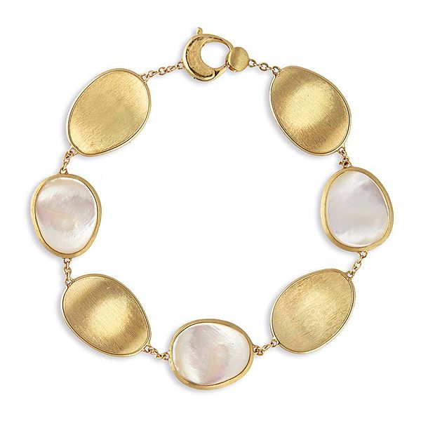 Marco Bicego Lunaria 18ct Gold Mother Of Pearl Bracelet - Product number 2394693