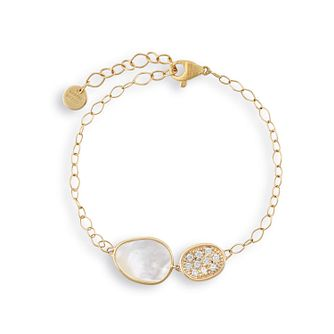 Marco Bicego Lunaria 18ct Yellow Gold Diamond Bracelet - Product number 2394715