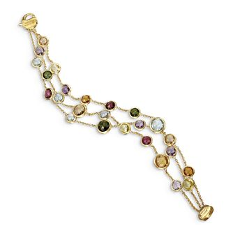 Marco Bicego Jaipur 18ct Yellow Gold Mix Stone Bracelet - Product number 2394812