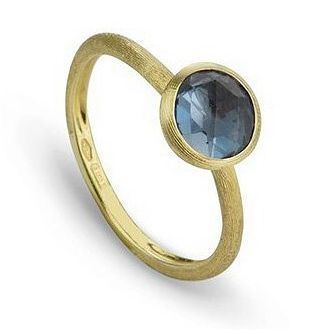 Marco Bicego Jaipur 18ct Yellow Gold London Blue Topaz Ring - Product number 2395002