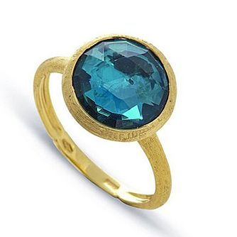 Marco Bicego Jaipur 18ct Yellow Gold London Blue Topaz Ring - Product number 2396181