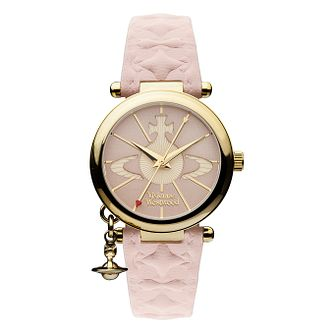 Vivienne Westwood Orb ladies' pink leather strap watch - Product number 2397307