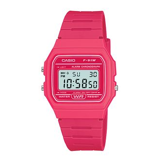 Casio Men's Pink Resin Strap Digital Watch - Product number 2400650