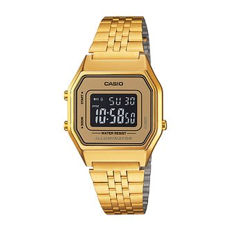 Casio Men's Yellow Gold Plated Digital Watch - Product number 2401193