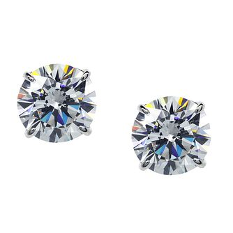 CARAT* LONDON 9ct White Gold Stud Earrings - Product number 2405520