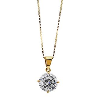 CARAT* LONDON 9ct yellow gold stone set round pendant - Product number 2405555