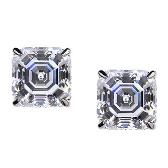 CARAT* LONDON 9ct white gold stone set stud earrings - Product number 2405571