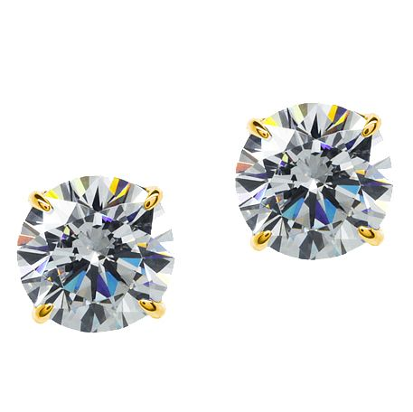 CARAT* LONDON 9ct Yellow Gold Stud Earrings - Product number 2405598