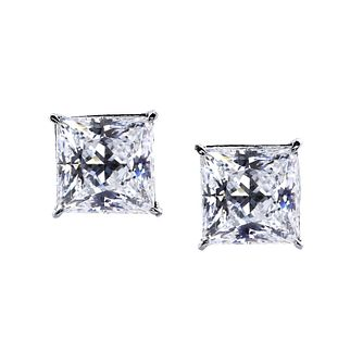 CARAT* LONDON 9ct White Gold Square Stud Earrings - Product number 2405989