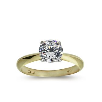 CARAT* LONDON 9ct yellow gold stone set ridge band size K - Product number 2406136