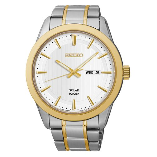 Seiko Men's Solar Two Tone Bracelet Watch - Product number 2435853