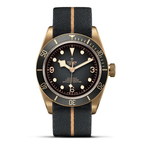 Tudor Black Bay Bronze Men's Grey Fabric Strap Watch - Product number 2437244
