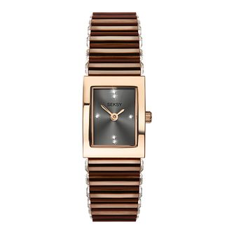 Seksy Edge Ladies' Brown Stainless Steel Bracelet Watch - Product number 2464721
