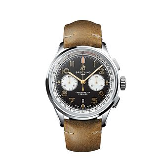 Breitling Premier B01 Norton Edition Men's Brown Strap Watch - Product number 2465183