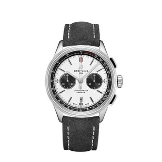Breitling Premier B01 Chronograph Black Leather Strap Watch - Product number 2465221