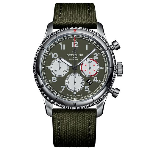 Breitling Navitimer 8 B01 Curtiss Warhawk Green Strap Watch - Product number 2465396