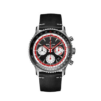 Breitling Navitimer Swissair Men's Black Leather Strap Watch - Product number 2465418